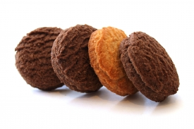 "Shortbread ""Znamianka"" cookies with cocoa"